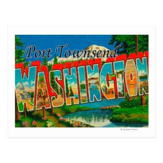 Port Townsend, Washington - Large Letter Scenes Postcard