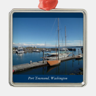 Port Townsend Washington Ocean Boat View Metal Ornament