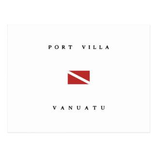 Port Villa Vanuatu Scuba Dive Flag Postcard