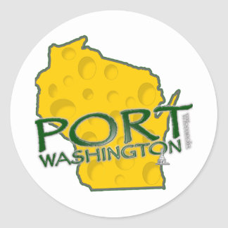 Port Washington WI Land of Cheese Classic Round Sticker