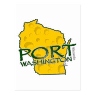 Port Washington WI Land of Cheese Postcard