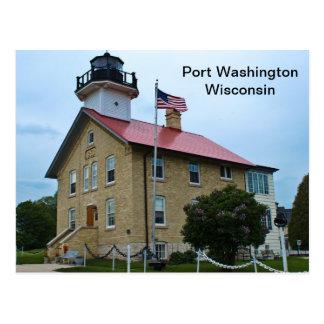 Port Washington Wisconsin Lighthouse Postcard