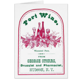 Port Wine Advertisement, Greeting Card