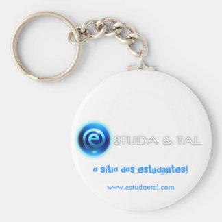 Porta-chaves ESTUDA&TAL Basic Round Button Keychain