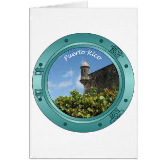 Porta de Puerto Rico Tarjeta De Felicitación