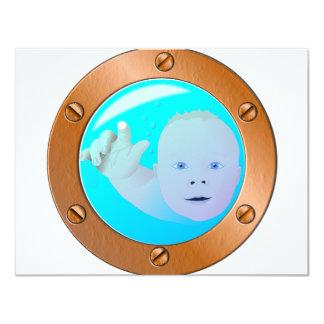 porta del bebé invitación personalizada