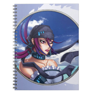 Porta del pirata del animado spiral notebook
