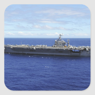 Portaaviones USS Abraham Lincoln 2 Calcomania Cuadradas