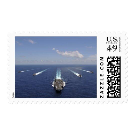 Portaaviones USS Abraham Lincoln Sello Postal