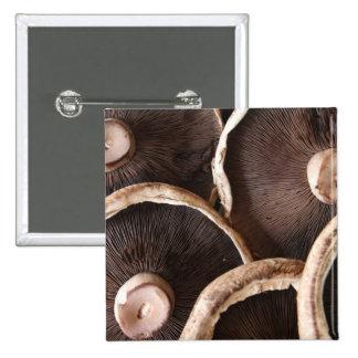 Portabella Mushrooms Pinback Button