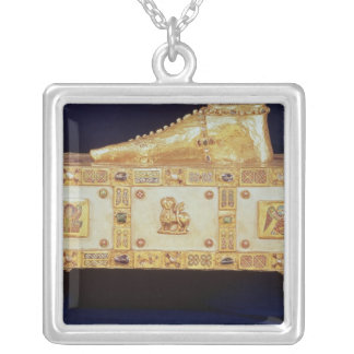Portable altar of St. Andrew 2 Square Pendant Necklace