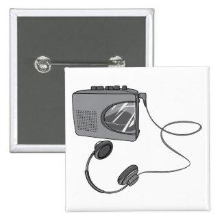Portable Cassette Tape Player 2 Inch Square Button