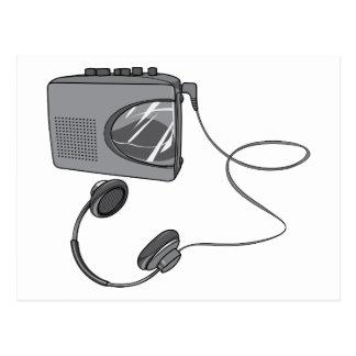 Portable Cassette Tape Player Postcard