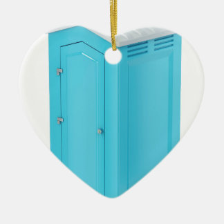 Portable chemical toilet ceramic ornament