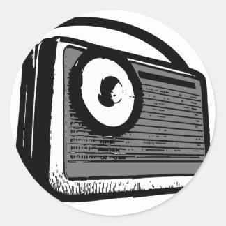 PORTABLE DE LA RADIO DE TRANSISTOR PEGATINAS