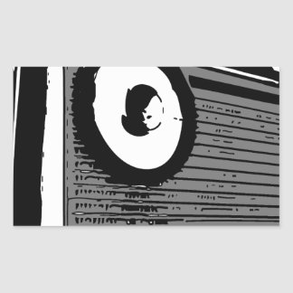 PORTABLE DE LA RADIO DE TRANSISTOR PEGATINA RECTANGULAR