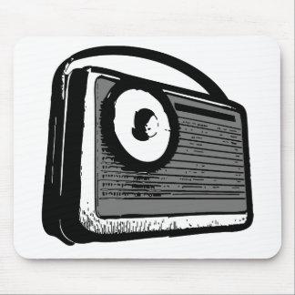 PORTABLE DE LA RADIO DE TRANSISTOR ALFOMBRILLAS DE RATON