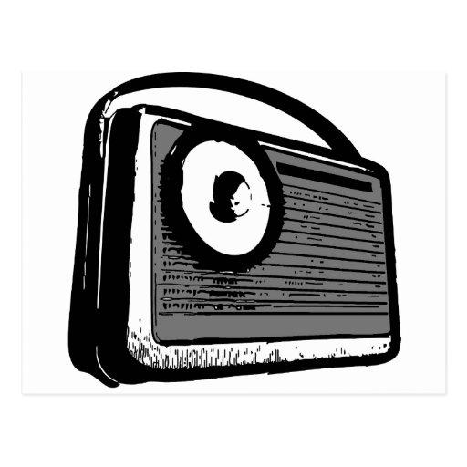 PORTABLE DE LA RADIO DE TRANSISTOR POSTALES