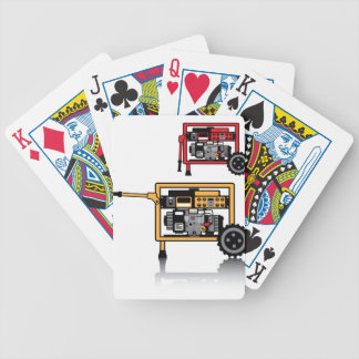 Portable Generator vector Bicycle Playing Cards