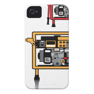 Portable Generator vector iPhone 4 Case-Mate Cases