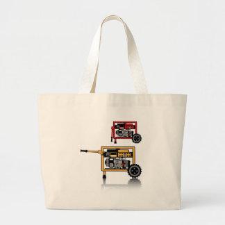 Portable Generator vector Large Tote Bag