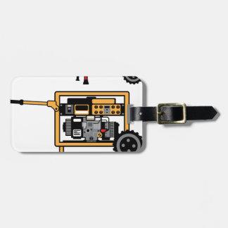 Portable Generator vector Luggage Tag
