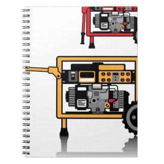 Portable Generator vector Notebook