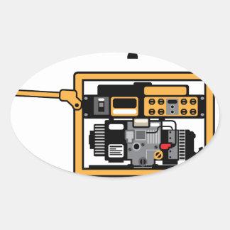 Portable Generator vector Oval Sticker