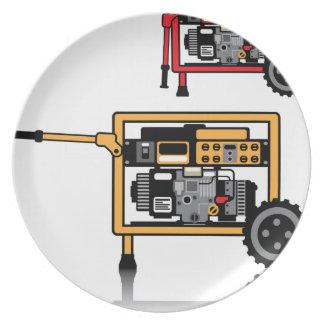 Portable Generator vector Plate