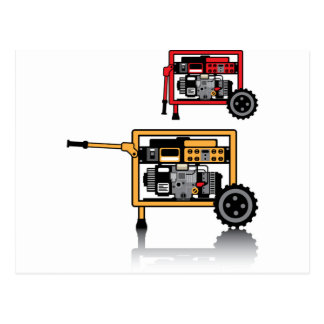 Portable Generator vector Postcard