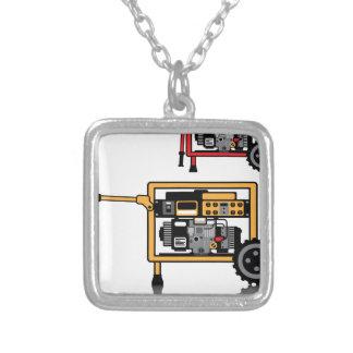 Portable Generator vector Square Pendant Necklace