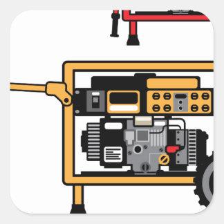 Portable Generator vector Square Sticker