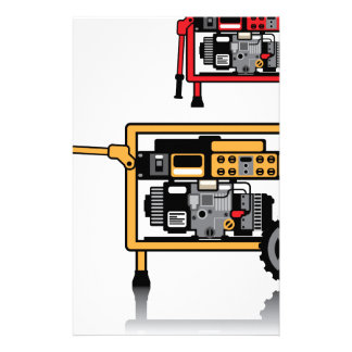 Portable Generator vector Stationery