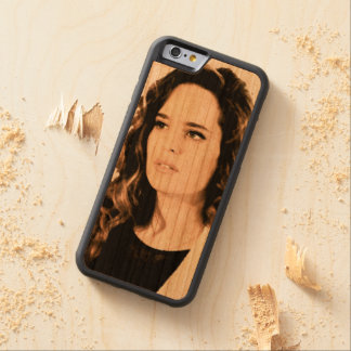 Portable hull Soy Amor - Lola Dargenti Carved Cherry iPhone 6 Bumper Case