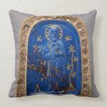 Portable Icon, probably medieval (lapis lazuli) Throw Pillow