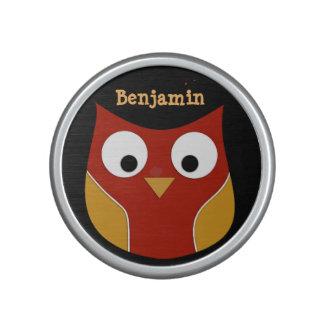 Portable Speaker Cute Owl Design Festive Colours