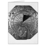 Portable Sundial, from Sierk Castle  1756 Greeting Card