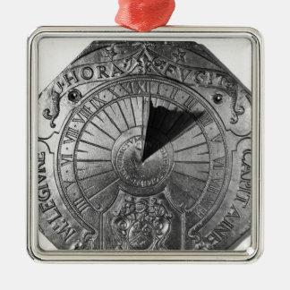 Portable Sundial, from Sierk Castle  1756 Metal Ornament
