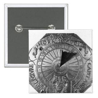 Portable Sundial, from Sierk Castle  1756 Pinback Button