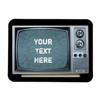 Portable Television with Static Rectangular Photo Magnet