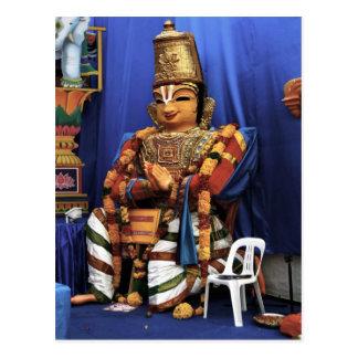 Portable temple shrine postcard