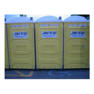 Portable Toilets Postcard