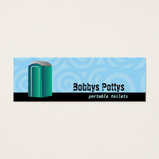 Portable Toilets Skinny Business cards