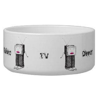 Portable TV Dinner Dog Bowl