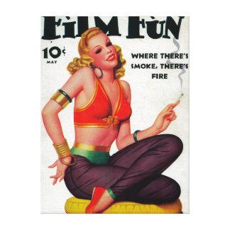 Portada de revista 11 de la diversión de la pelícu lona envuelta para galerias