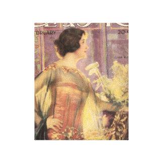 Portada de revista 1919 de la película de los jóve lienzo envuelto para galerias