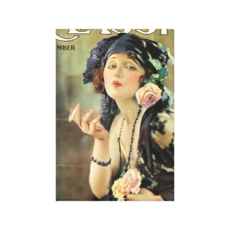 Portada de revista 1920 de la película del vintage lienzo envuelto para galerias