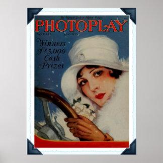 Portada de revista 1927 de la película de Hollywoo Impresiones