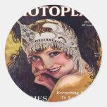Portada de revista 1929 de la película de pegatinas redondas