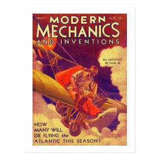 "Portada de revista 1931 del vintage de ""Mechanix Tarjetas Postales"